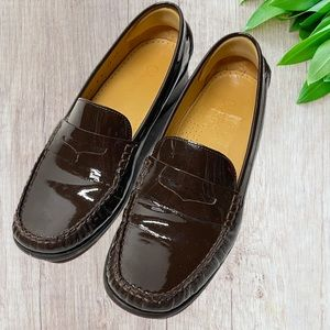 COLE HAAN AIR ERIKA PENNY LOAFERS patent LEATHER